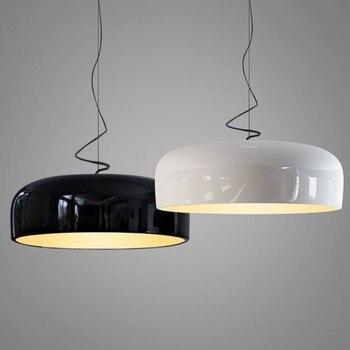 Modern Parlak Kolye Işıkları Siyah Yuvarlak Asılı Lamba Mutfak Aydınlatma Armatürleri Oturma Odası Yatak Odası Ev Deco Suspendu Armatür