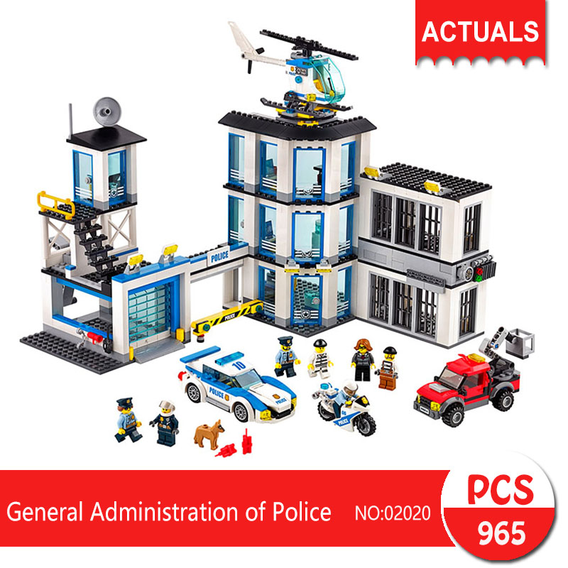 купить Lepin 02020 965Pcs City series General Administration of Police Model Building Blocks  Bricks Toys For Children Gift 60141 недорого