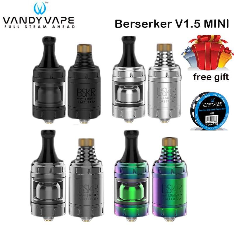 Réservoir d'origine V1.5 Mini MTL RTA réservoir VandyVape BSKR atomiseur Tube métallique 2.5ml pour Cigarettes électroniques Vape Mod