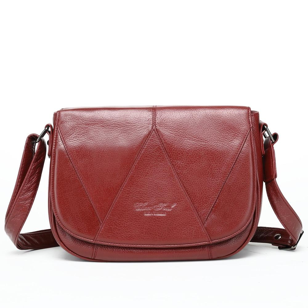CHEER SOUL Genuine Leather Ladies Luxury HandBags Shoulder Bag Women Totes Purse Messenger Bags female Fashion Crossbody Bags