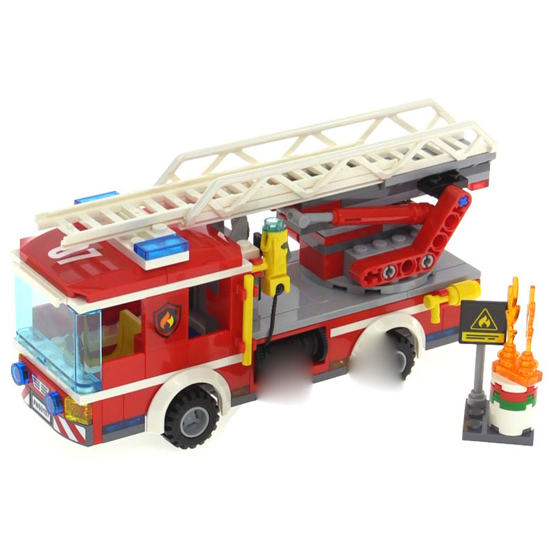 Genuine Lepin 02054 239Pcs The Fire Ladder Truck Set 60107 City Series Funny Creative Building Blocks Bricks Gift Toys for Boy 380pcs fire branch city enlighten bricks toy for children ladder truck building blocks fire fighter figures boys gift k0411 910