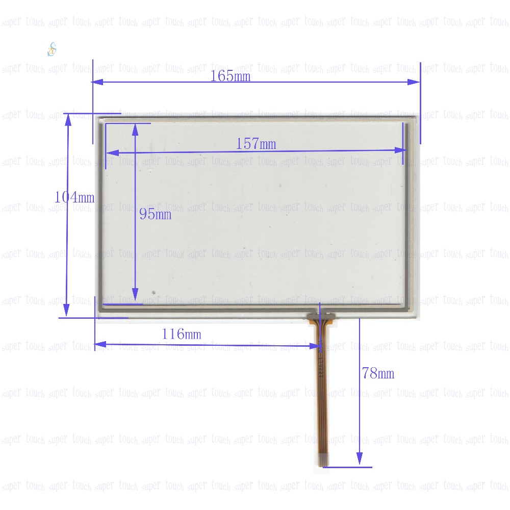Zhiyusun 165mm104mm New 7 Inch Touch Screen 4 Wire Resistive Usb Diagram Panel Overlay Kit 165104this Is Compatible In Tablet Lcds Panels From Computer