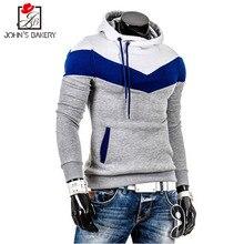 Fashion Brand Hoodies Men Casual Sportswear Man Hoody Stitching Long-sleeved Sweatshirt Men Five Colors Slim Fit Men Hoodie