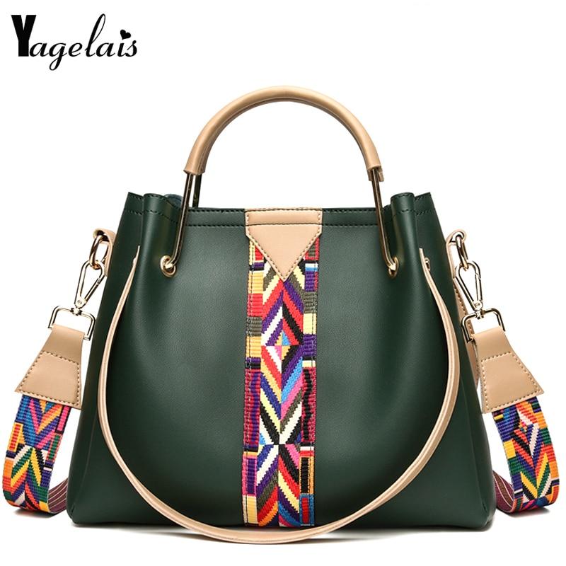 Women National Style Shoulder Bags Patchwork Fashion Handbags Women Crossbody Bags Soft PU Leather Totes Female Commuter Bolsas