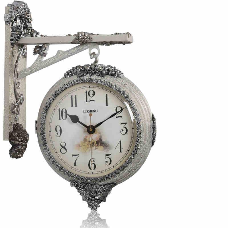 Vintage montre murale mécanisme Double face horloge murale Pow patrouille horloges numériques Relogio Parede horloge Loft idées cadeaux WZH736