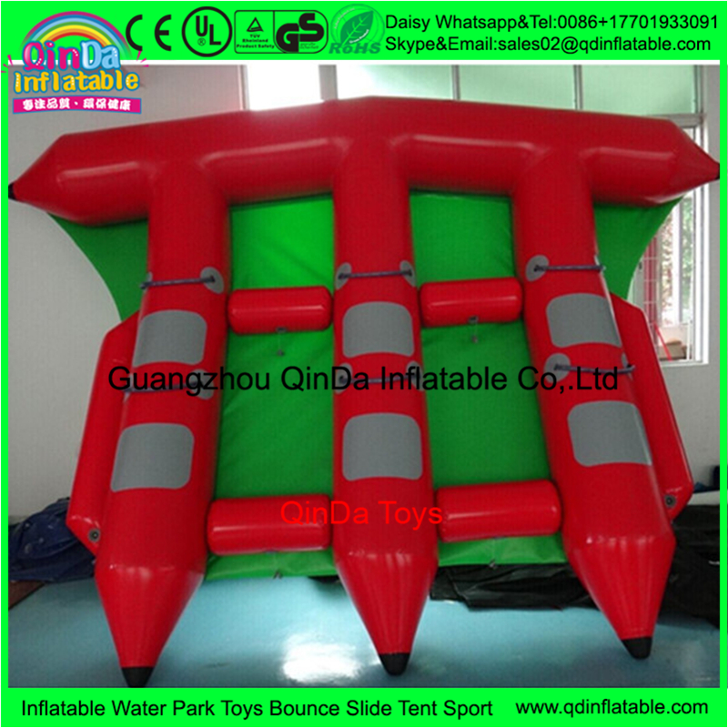 3 Tubes Flying Towables Inflatable Flying Fish Banana Boat For Water Sports, inflatable flying towables tube ns novelties kinky camo стек оригинальной формы