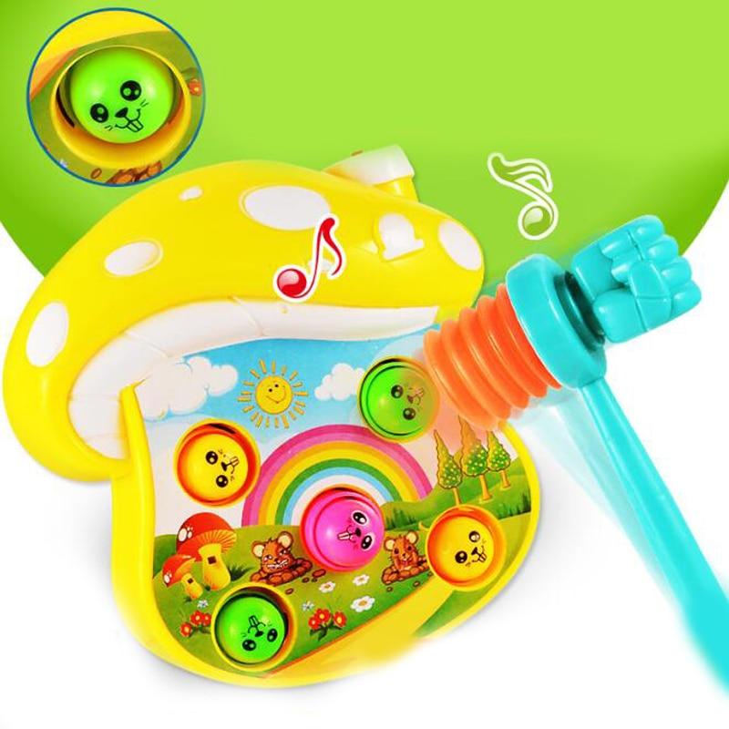 1 Pc Kunststoff Elektrische Pilz Musik Klopfen Hamster Pädagogisches Spielzeug Interaktive Spielzeug Für Kinder Frühen Kindheit Spiele Geschenke Einfach Zu Verwenden