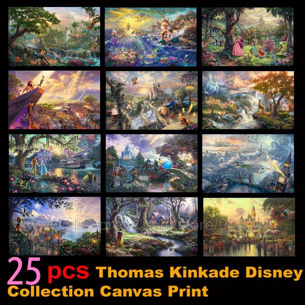 Canvas Painting Poster Thomas Kinkade Fairy Wall-Decoration Living-Room Characters Hd Print