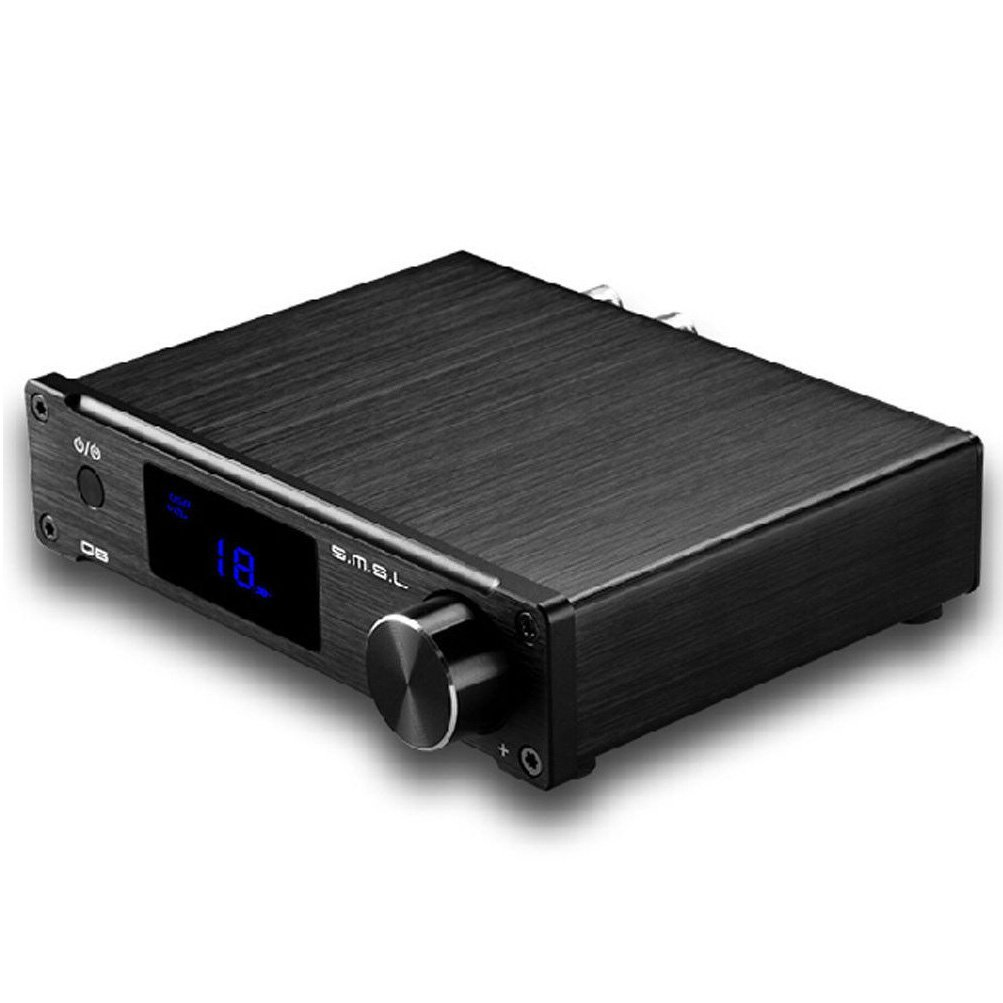 SMSL SMSL Q5 black 50W Pure Digital Power Amplifier USB/Coaxial/Optical with Remote Control (Black) усилитель smsl ad18 black