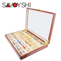 Luxury Cufflinks Gift Box 40pairs Capacity Cufflinks box High Quality Painted Wooden Box Authentic 350*240*50mm Ring Earing box