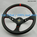 2017 Hot  leather steering wheel modified car / 350mm steering wheel modified racing feel good