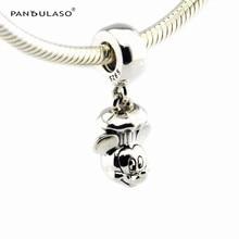 Chef Flotantes Beads Fit Pandora Charms Bracelet Disny Micky Original 925 de Plata DIY Fabricación de La Joyería para Las Mujeres Accesorios de Moda