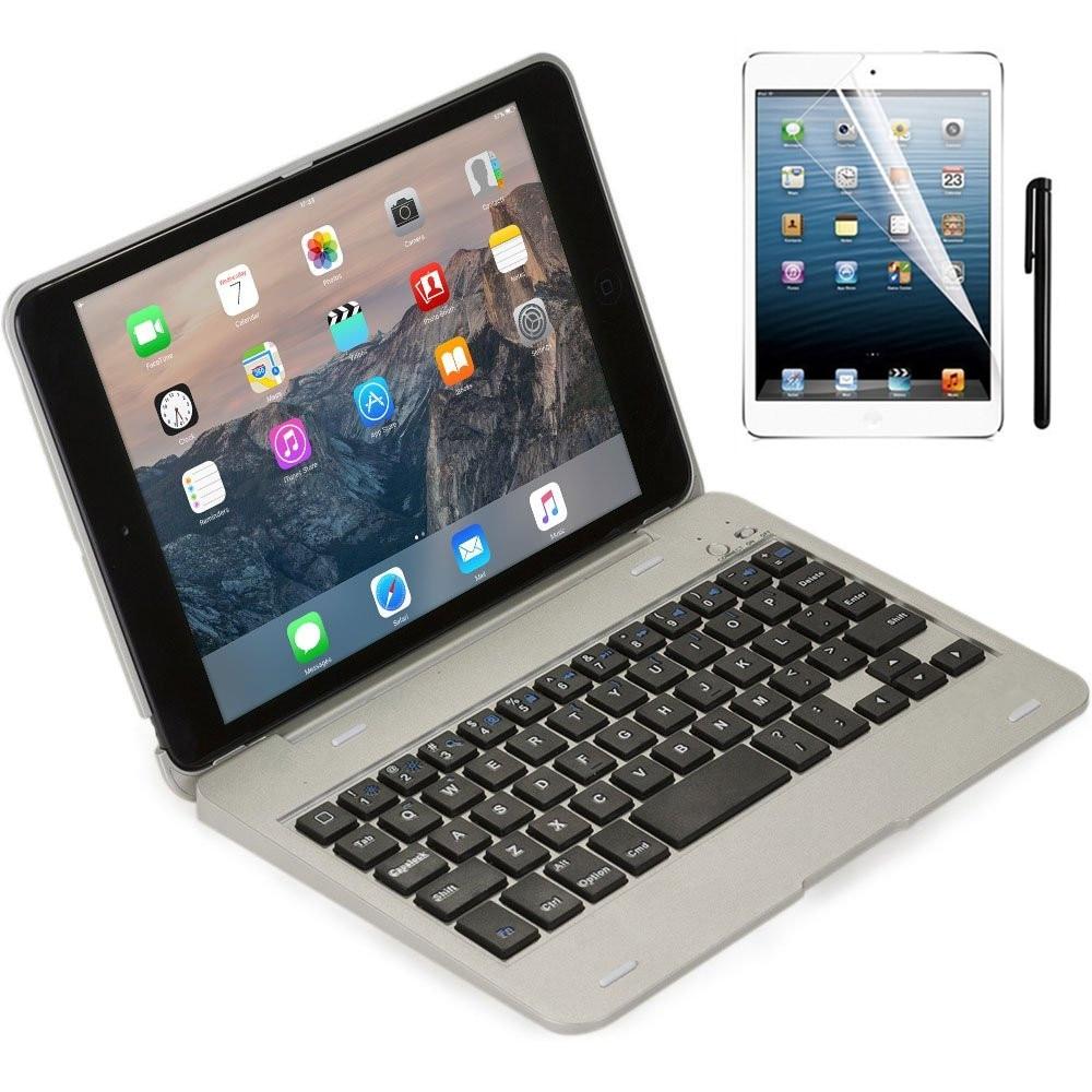 Для ipad mini2 случае Беспроводной <font><b>Bluetooth</b></font> клавиатура для IPad <font><b>Mini</b></font> 1 2 3 Полный Средства ухода за кожей защитный Портативный корпус клавиатуры с стенд С&#8230;