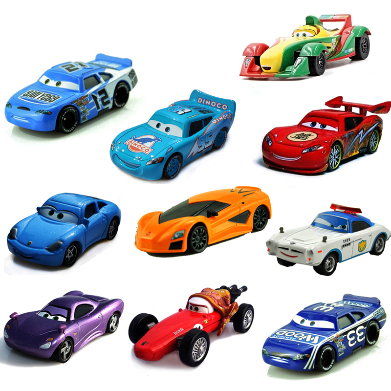 Disney Pixar Cars 24 Styles McQueen Mater 1:55 Diecast Metal Alloy Toys Model Car Birthday Toys Gift For Children Kids