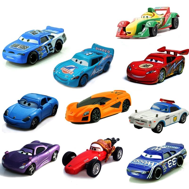 Disney Pixar Cars 24 Styles McQueen Mater 1:55 Diecast Metal Alloy Toys Model Car Birthday Toys Gift For Children Kids