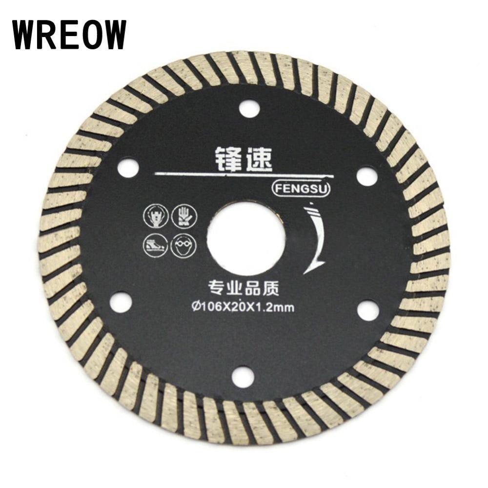 WREOW Ultrathin Diamond Turbo Circular Saw Blade Granite Stone Cutting Disc Saw Blade Ceramic Tile Granite Cutter durable Tool