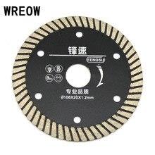 WREOW Ultra Ince Elmas Turbo Daire Testere Bıçağı Granit Taş Kesme Diski Testere Bıçağı Seramik Karo Granit Kesici dayanıklı Alet