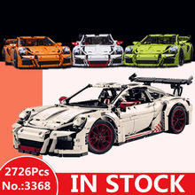 H&HXY IN STOCK 2726PCS 3368 technic series White green orange Car Model Building Kits Blocks Toys Bricks Compatible 42056 Gifts(China)