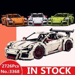 H&HXY IN STOCK 2726PCS 3368 technic series White green orange Car Model Building Kits Blocks Toys Bricks Compatible 42056 Gifts