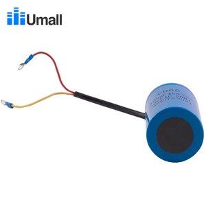 Image 2 - Cd60 300 uf 300 v ac começando capacitor para o motor elétrico resistente compressor de ar vermelho amarelo dois fios