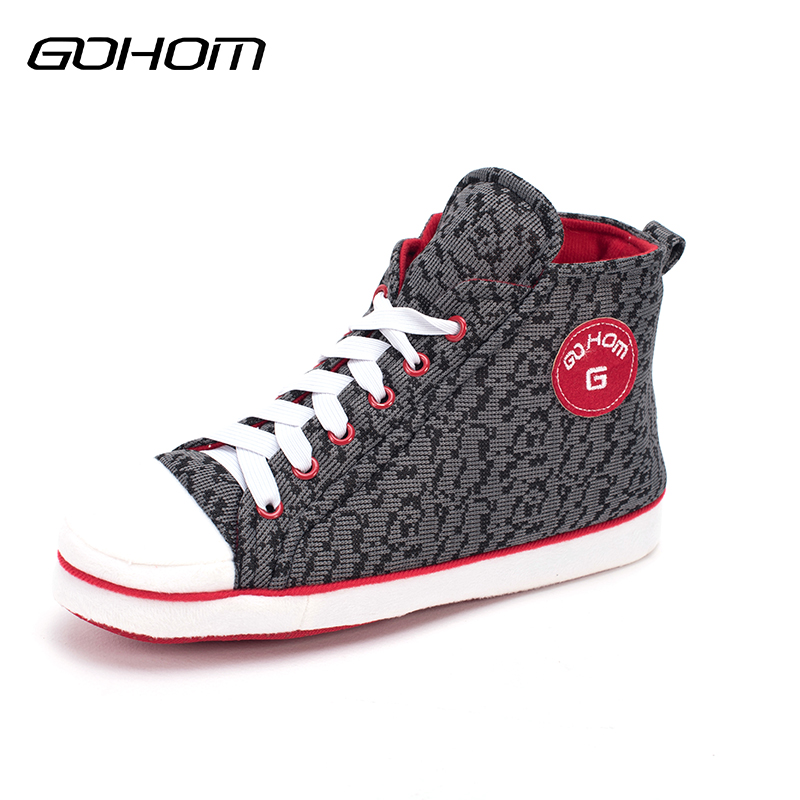 GOHOM 2017 New Style  Warm Flats Soft Sole  Men Indoor Canvas Leisure Home Slippers Winter Best Shoes With Family 12 Colors