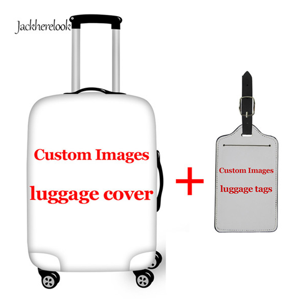Jackherelook Travel Accessories Customize Picture Or Logo Elastic Luggage Protetcive Covers Bagage Trolley Suitcase Tags Label