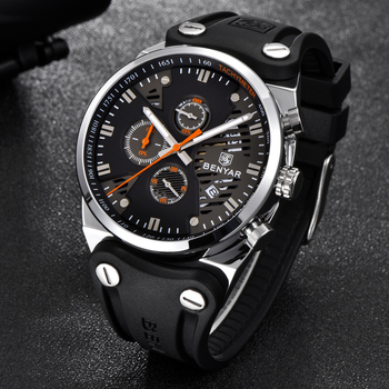 BENYAR 2018 Waterproof 30M Outdoor Hollow Sports Chronograph Watch Skeleton Calendar Men's Quartz Watches support dropshipping 4