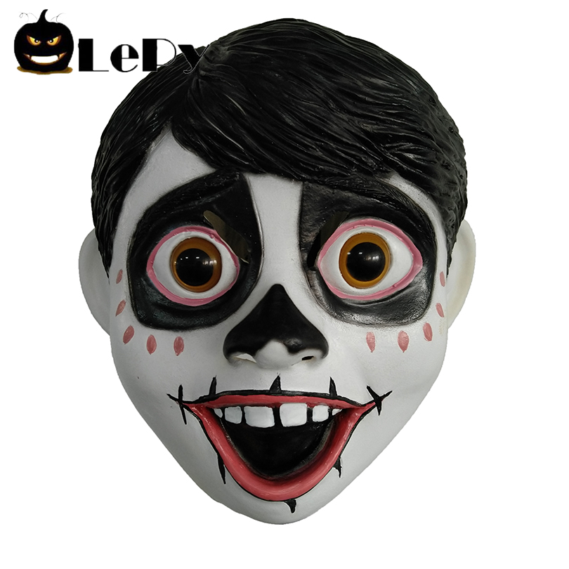 Halloween Full Head Latex Mask 2018 Newest Funny Movie Anime Dreambound Travel CoCo Miguel Fancy Ball Helmet Costume Props Mask