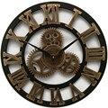 Большие деревянные настенные часы  винтажные настенные часы в американском стиле  настенные часы для гостиной  современный дизайн  украшен...