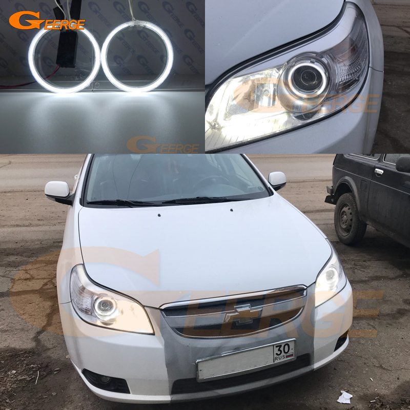 цена на For Chevrolet Epica 2007 2008 2009 2010 2011 2012 2013 Excellent Ultra bright headlight illumination CCFL Angel Eyes kit