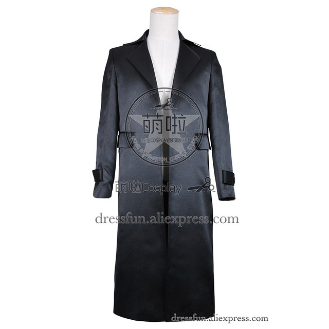 Black trench coat costume