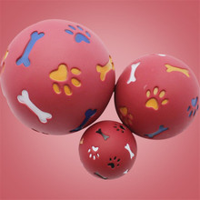 Pet Dog Toys Extra-tough Rubber Ball Toy Funny Interactive Elasticity Ball Dog Chew Toys For Dog Tooth Clean Ball Of Food цена и фото