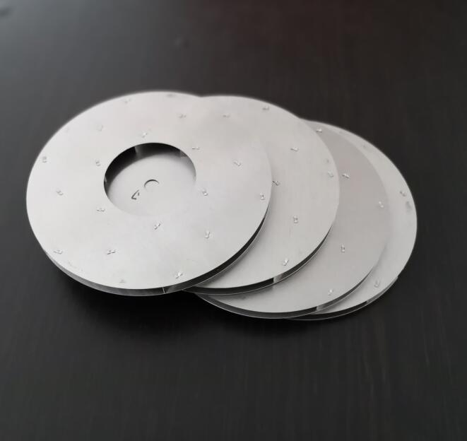 Vacuum Cleaner Parts aluminum impeller fan round blade 125mm diameter 8mm central hole