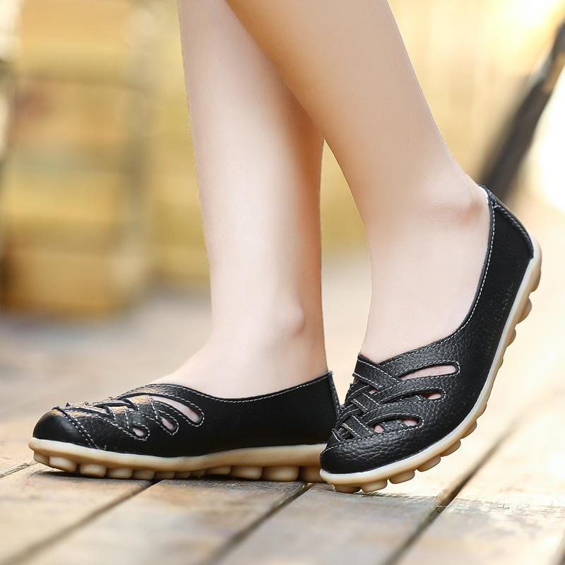 Women Flats Genuine Leather Shoes Woman 13 Color Loafers Women Oxford Shoes Soft Leather Moccasins Casual Flat Shoes Female 42
