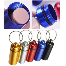 1Pcs High Quality Portable Mini Pill Tablet Medicine Storage Box Bottle Aluminum Keychain Waterproof Pills Case Holder