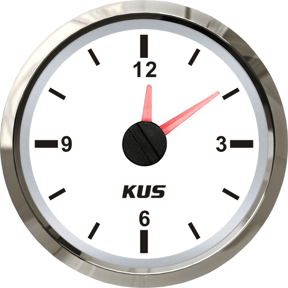 KUS 2 Clock Meter Gauge 12 hour Format With Backlight 12V 24V