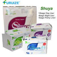 1Pack=19Bags Shuya Anion Sanitary napkin monthly Negative hygienic pad Feminine Hygiene Swab Tampons Pads Shuya panty liner