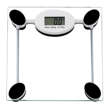 180KG Electronic Digital Household Bathroom Body Scale Toughened Glass Kitchen Scale Personal Health Fat Diet Weight