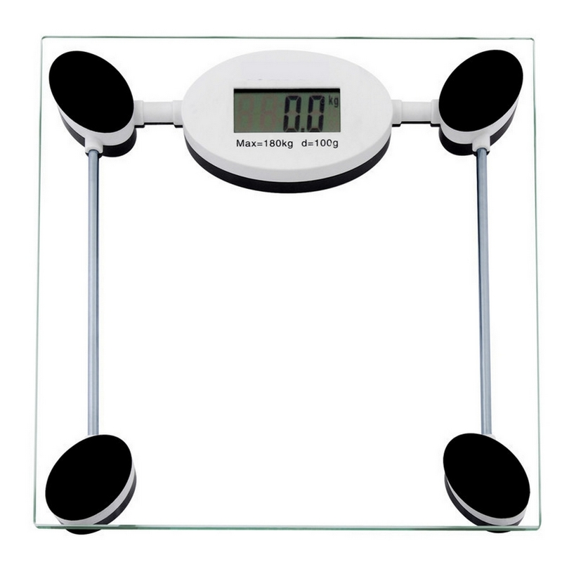 180KG Electronic Digital Household Bathroom Body Scale Toughened Glass Kitchen Scale Personal Health Fat Diet Weight Scales
