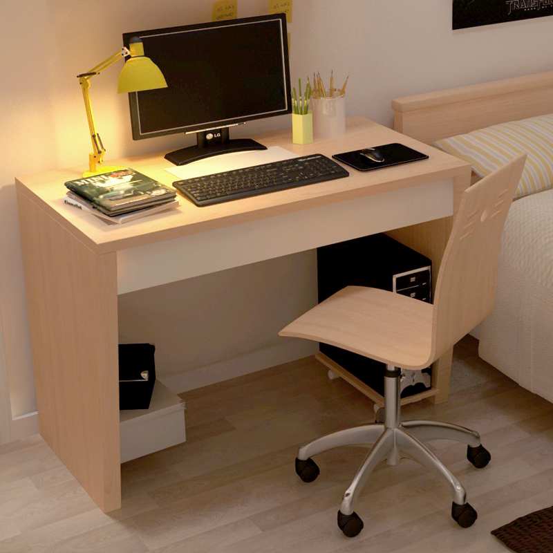 Chao Soil Texture Simple Oak Desk Desktop Home Computer Desk And Write Simple  Computer Desk Study Tables With Drawers In Computer Desks From Furniture On  ...
