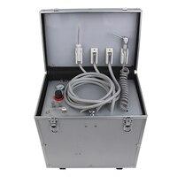 550 W переносная стоматологическая установка с 3 шприц и Oiless воздушный компрессор, система всасывания