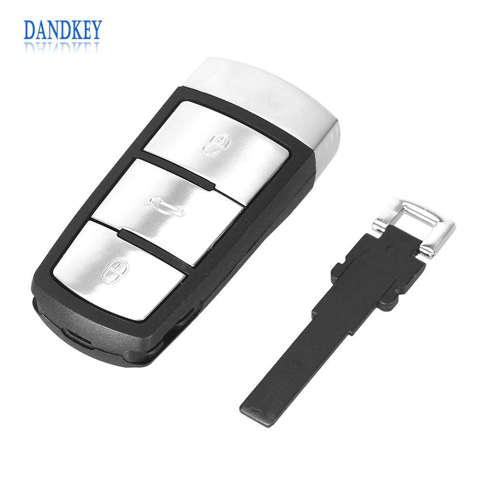 Dandkey NEW Replacement Shell Smart Remote Key Case Fob For Vw For VOLKSWAGEN CC Passat Magotan 3 Buttons With Logo все цены