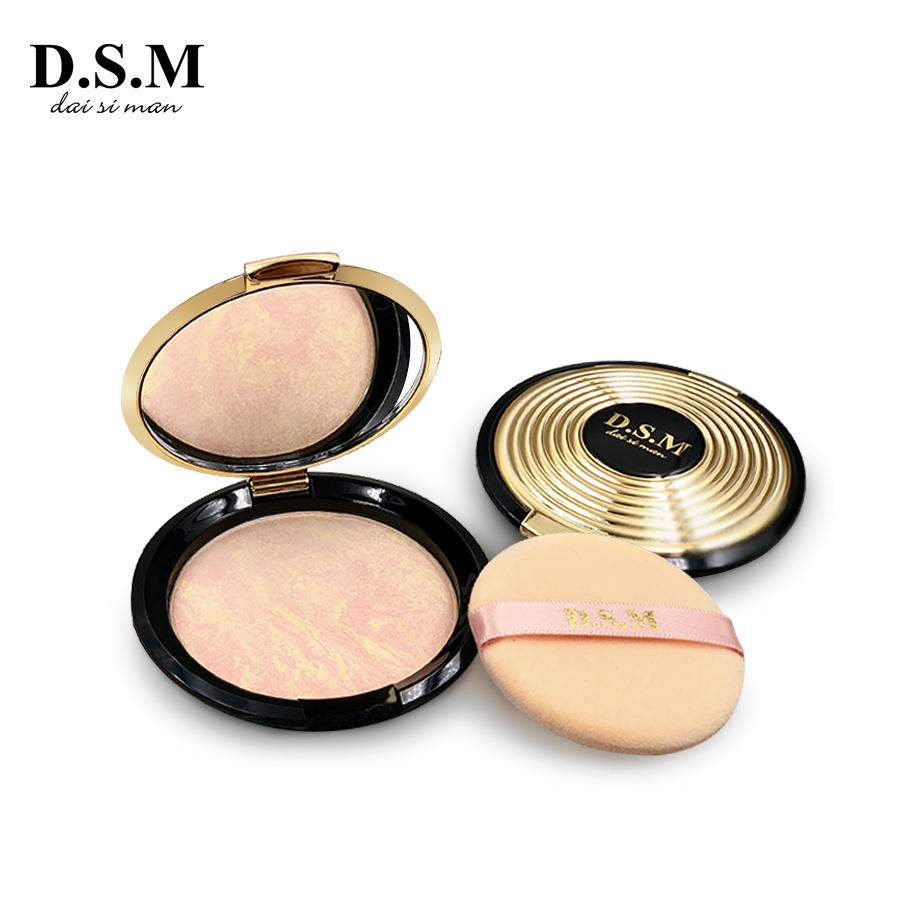 D.S.M Marke Neue Mineral Pulver Erhellen Wasserdicht Gesichts Make-Up Gedrückt Gebacken Pulver Kosmetische Mineralisieren Kompakte Pulver