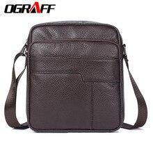 OGRAFF Männer messenger bags echtledertasche casual kleine geschäfts vintage luxus handtasche designer schulter crossbody tasche männer