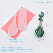 Flower Invitation Lute Pipa Mould Drop Glue King Glory Peripheral Silicone Resin DIY