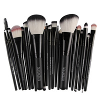 20Pcs Makeup Brushes 2Pcs Big Powder Blush Foundation Brush Eye Shadow Eyeliner Eyebrow Makeup Brush Set
