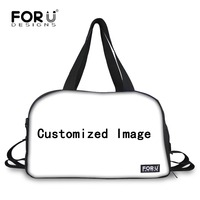 FORUDESIGNS Customize Your Image and Logo Luggage Travel Bag for Women Greyhounds Large Travel Duffle Tote Bags with Shoe Pocket