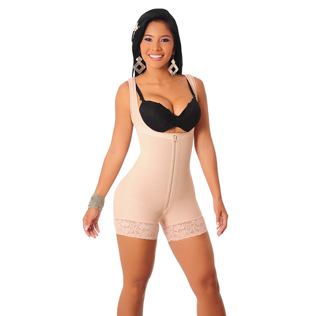 9c6ea98e8647f Plus Size S-6XL Women Strappy Slimming Waist Trainer Underbust Corset  Shapewear Full Body Girdles Open Bust Shaper Bodysuit