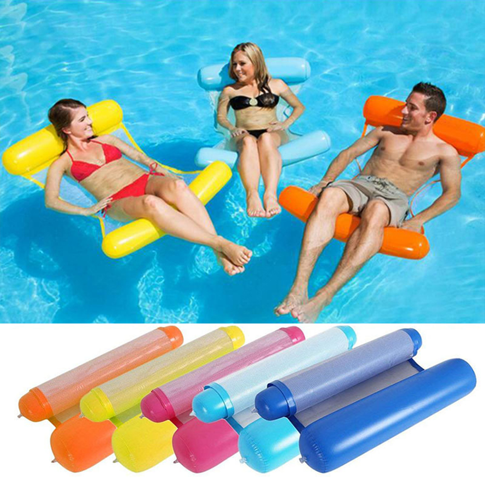 Adult Inflatable Floating Pool Floating Swimming Ring Lazy Water Lounge Chair Floating Bed Swimming Ring