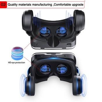 Hot!2019 Google Cardboard VR shinecon Pro Version VR Virtual Reality 3D Glasses +Smart Bluetooth Wireless Remote Control Gamepad 1